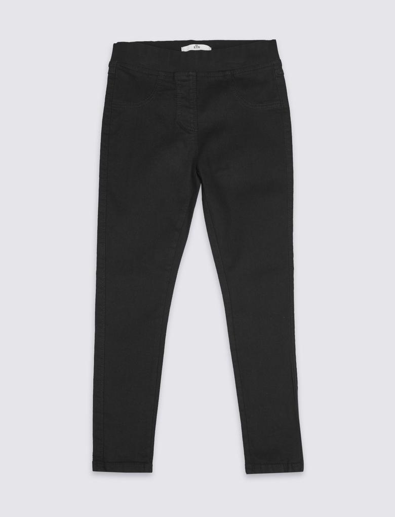 Siyah Pamuklu Jegging Tayt Jean Pantolon