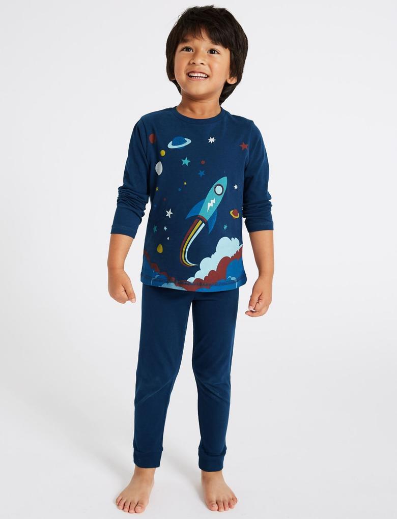 2'li Pamuklu Pijama Takımı