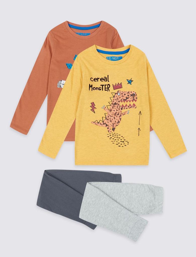 2'li Cereal Monster Pijama Takımı