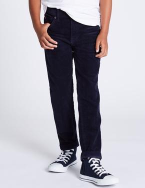 Pamuklu Streç Kadife Pantolon