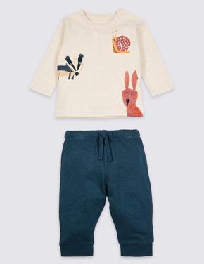 2 Parça T-Shirt ve Eşofman Altı Takımı