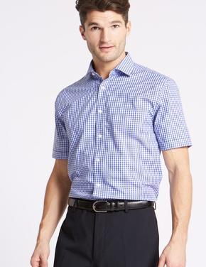 Pamuklu Ütü Gerektirmeyen Tailored Fit Gömlek