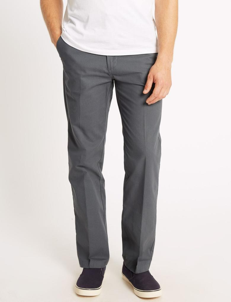 Gri Regular Fit Chino Pantolon (Stormwear™ Teknolojisi ile)