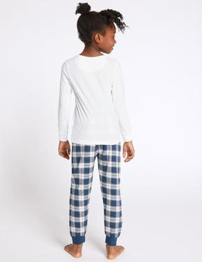 Mor Ekose Pijama Takımı