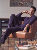 Erkek Mor Modal Karışımlı Pijama Üstü