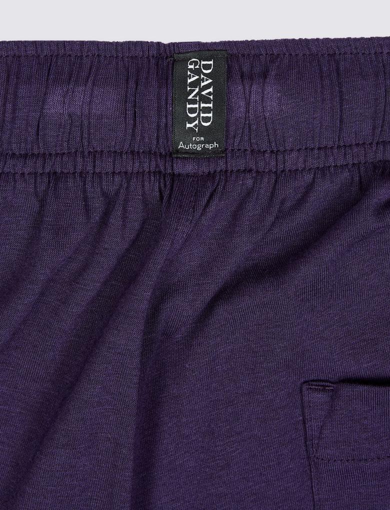 Erkek Mor Modal Karışımlı Pijama Altı