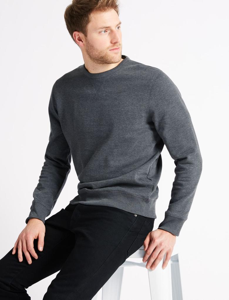 Pamuklu Sweatshirt