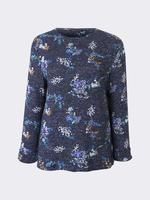 Uzun Kollu Çiçek Desenli T-Shirt