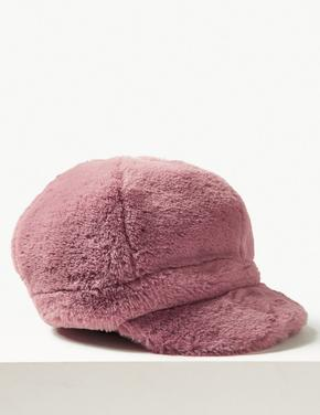 Suni Tüylü Kasket Şapka