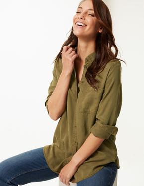 Tencel Uzun Kollu Gömlek