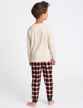 Uzaylı Dinozor Desenli Pijama Takımı