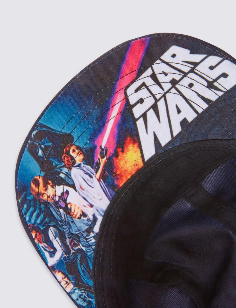 Siyah Star Wars™ Desenli Şapka