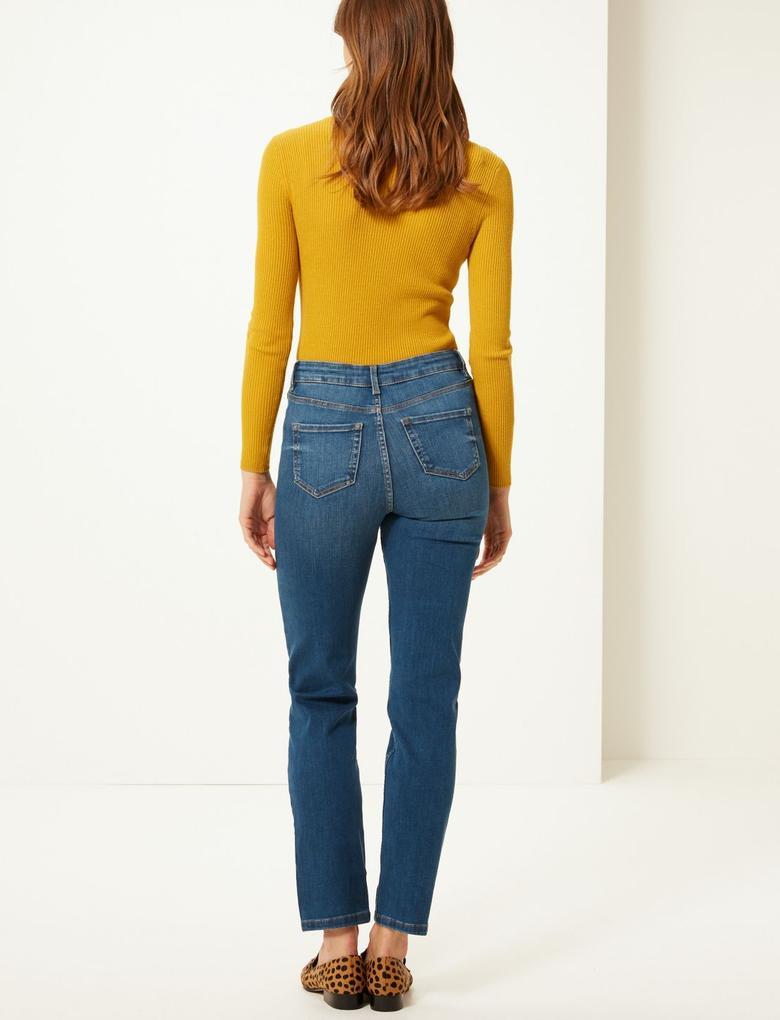 Sculpt & Lift Straight Leg Jean Pantolon
