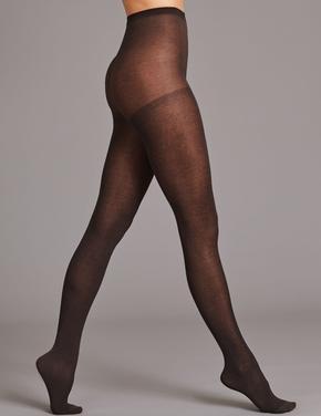 Kadın Gri 40 Denye Pamuklu Külotlu Çorap