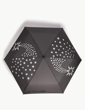Yıldız Desenli Kompakt Şemsiye (Stormwear™ Teknolojisi ile)