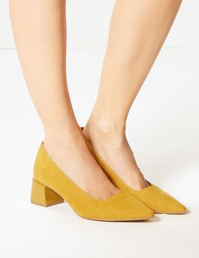 Geniş Kalıplı Kalın Topuklu Ayakkabı