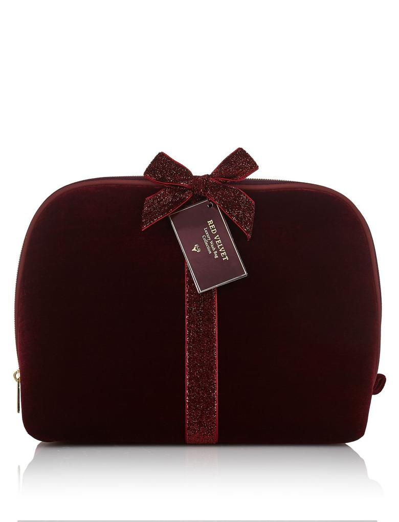 Red Luxe Kadife Çanta Seti