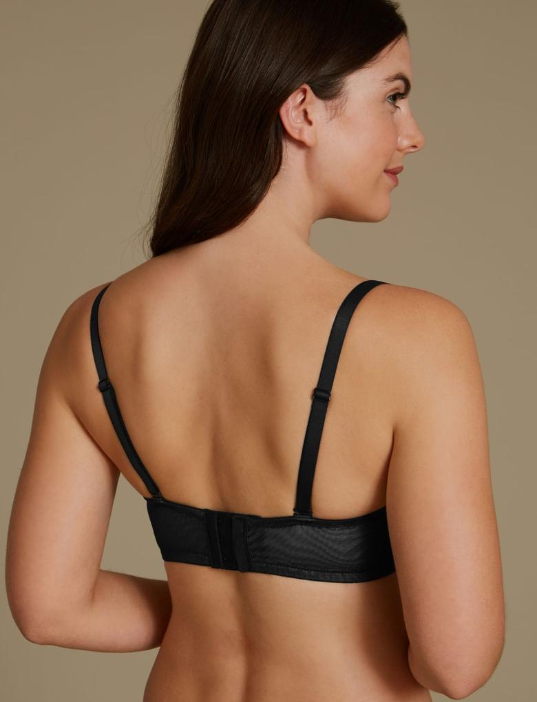Siyah Louisa Dantelli Push-Up Plunge Multiway Sütyen