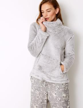 Uzun Kollu Polar Pijama Üstü