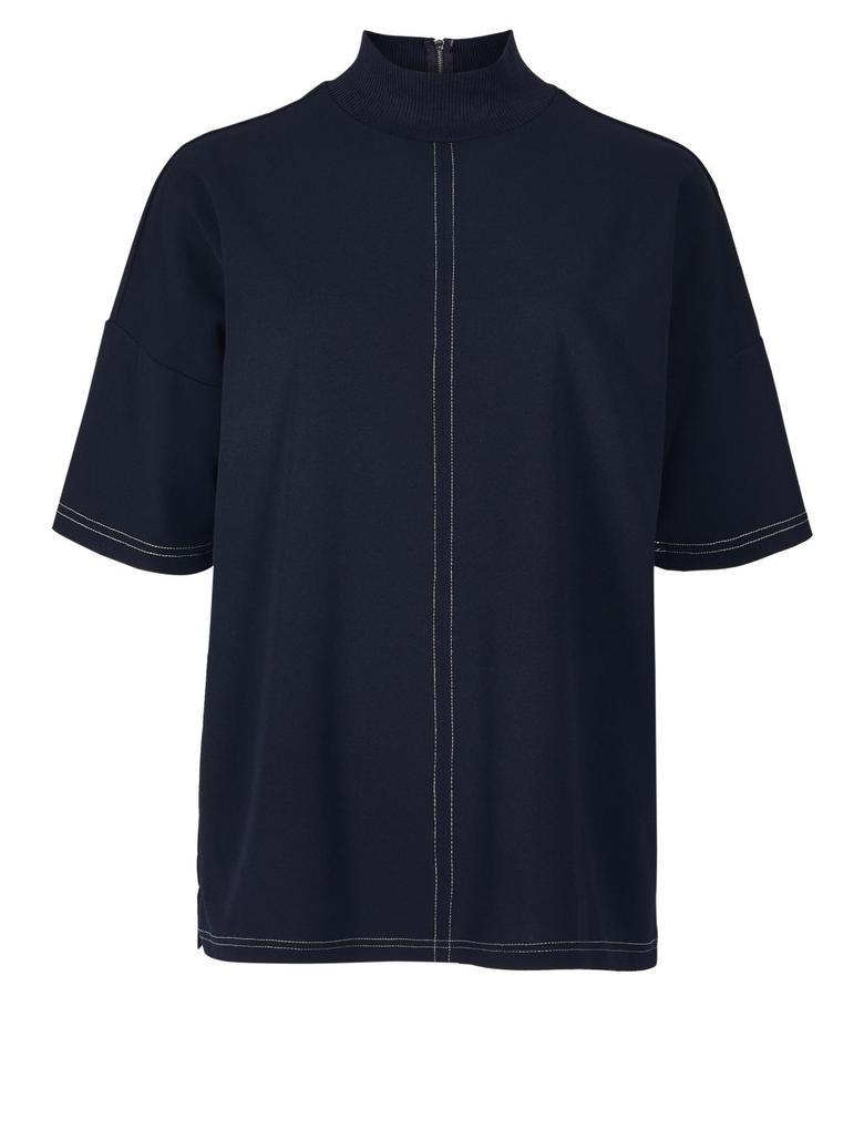 Lacivert Yarım Kollu Bluz