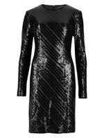 Pırıltılı Uzun Kollu Elbise