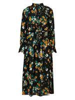 Çiçek Desenli Midi Elbise