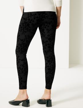 Siyah Pamuklu Super Skinny Leg Tayt