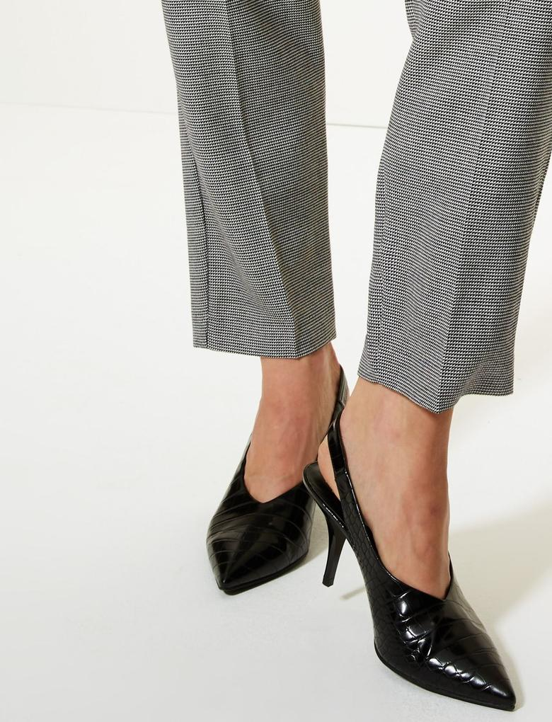 Relaxed Straight Leg Ekose Pantolon