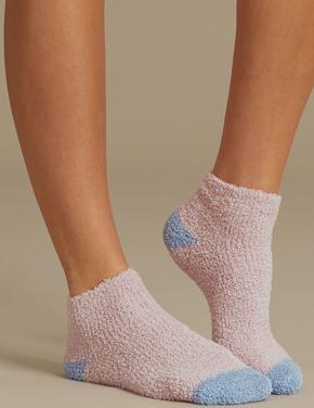 Kadın Pembe 2'li Ponponlu Çorap Seti