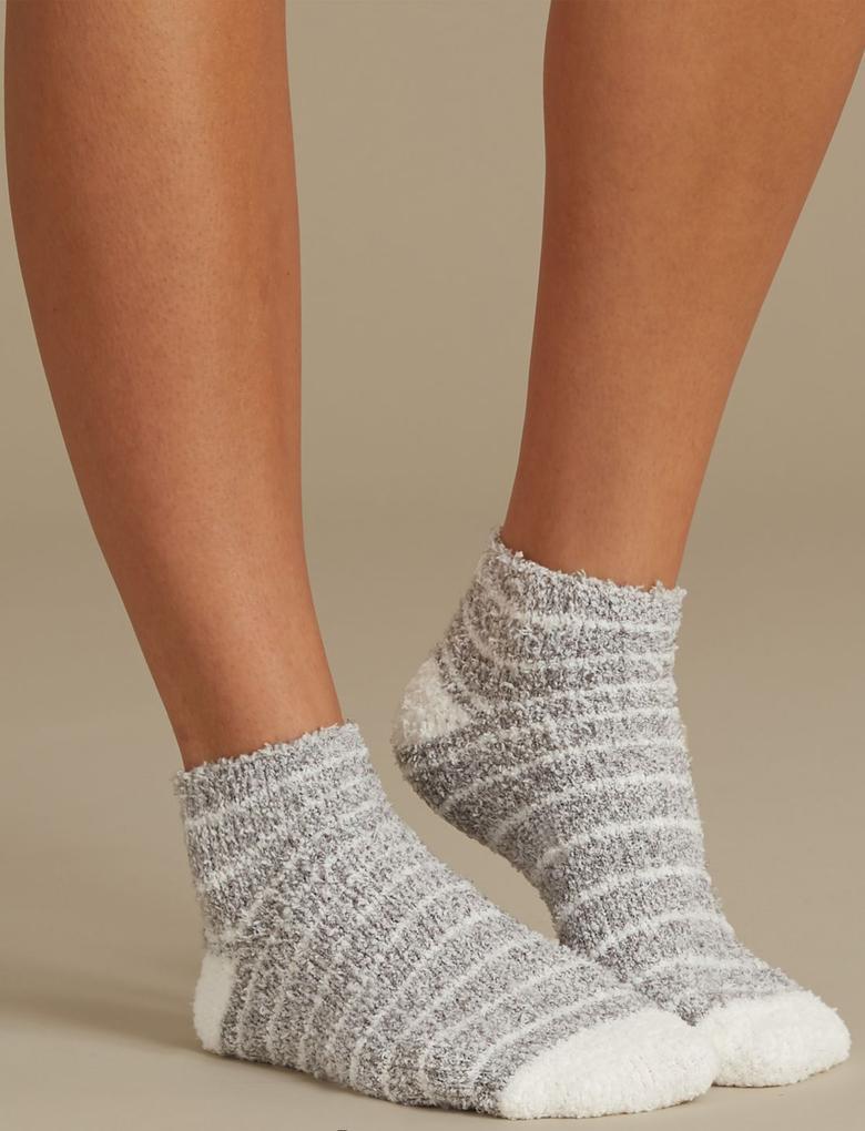 Gri 2'li Ponponlu Çorap Seti