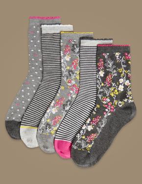 5'li Yumuşak Dokulu Çorap Seti