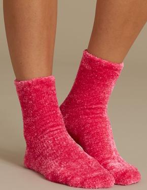 2'li Kadife Dokulu Çorap Seti