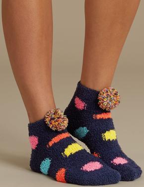 2'li Ponponlu Çorap Seti