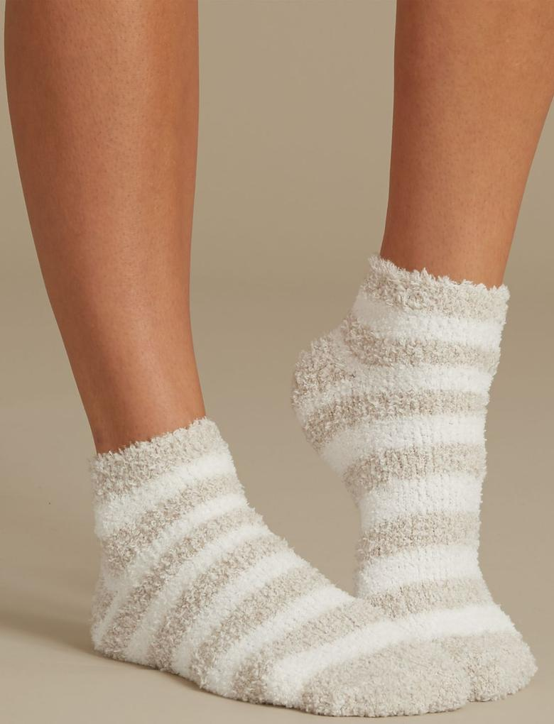 Bej 2'li Terlik Çorap Seti