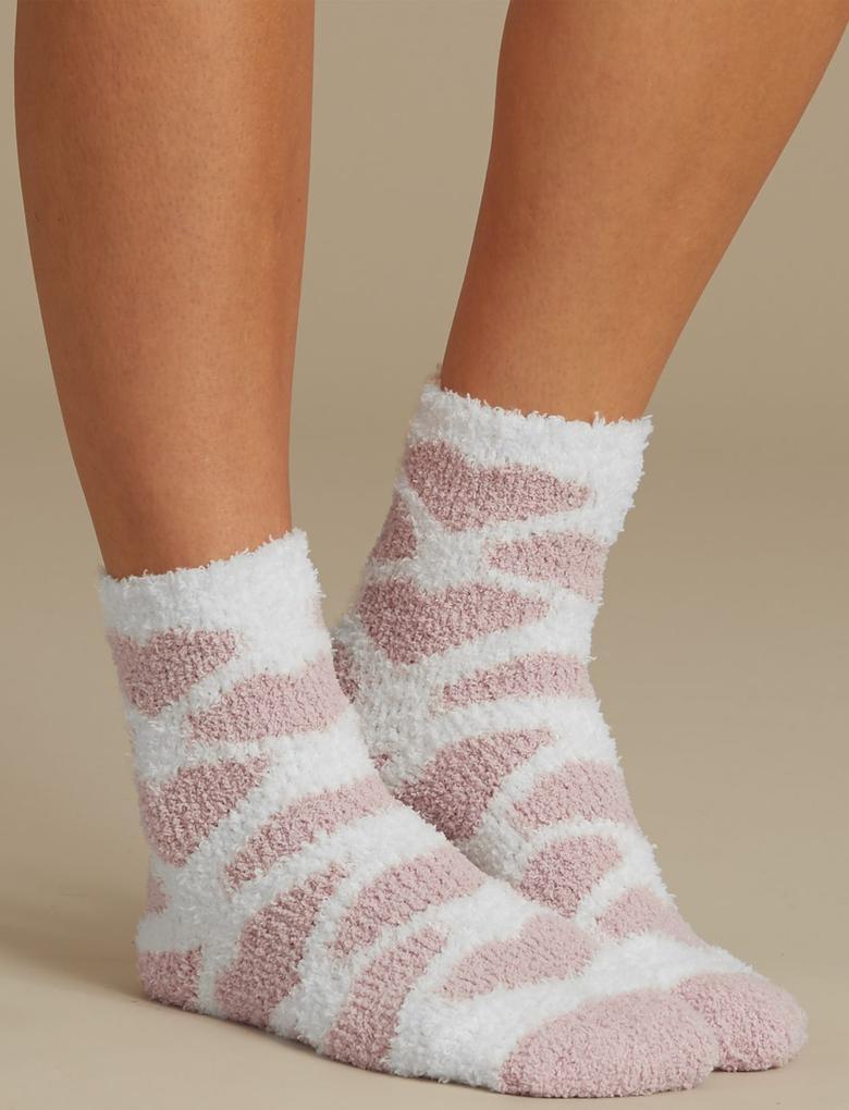 Pembe 2'li Yumuşak Dokulu Çorap Seti