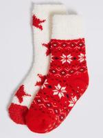 2'li Fairisle Desenli Çorap Seti