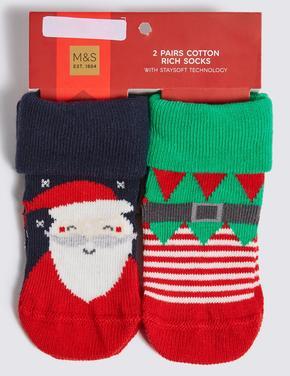 2'li Noel Baba Çorap Seti