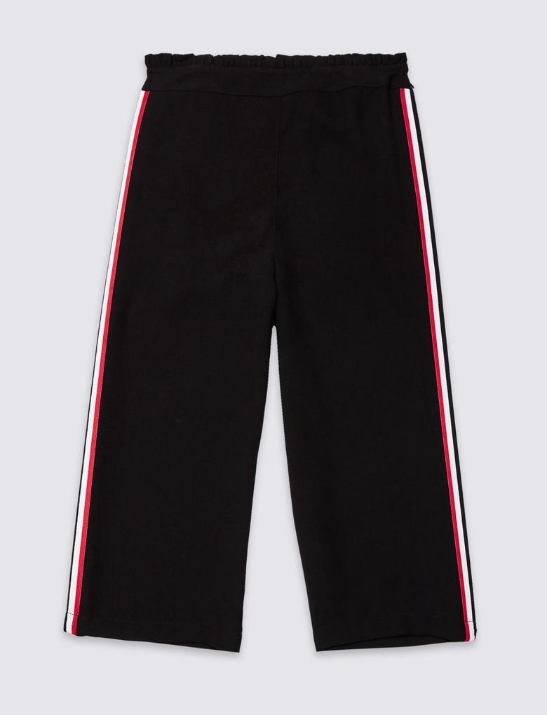Çizgili Bol Paça Pantolon