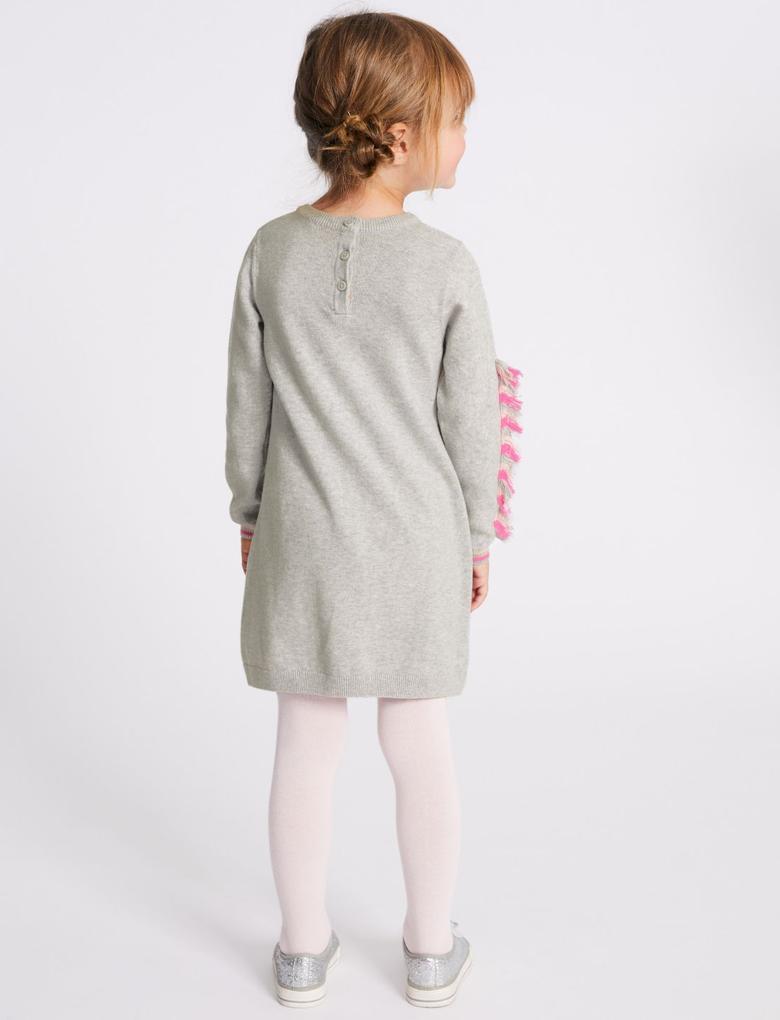 Unicorn Desenli Elbise ve Külotlu Çorap Takımı