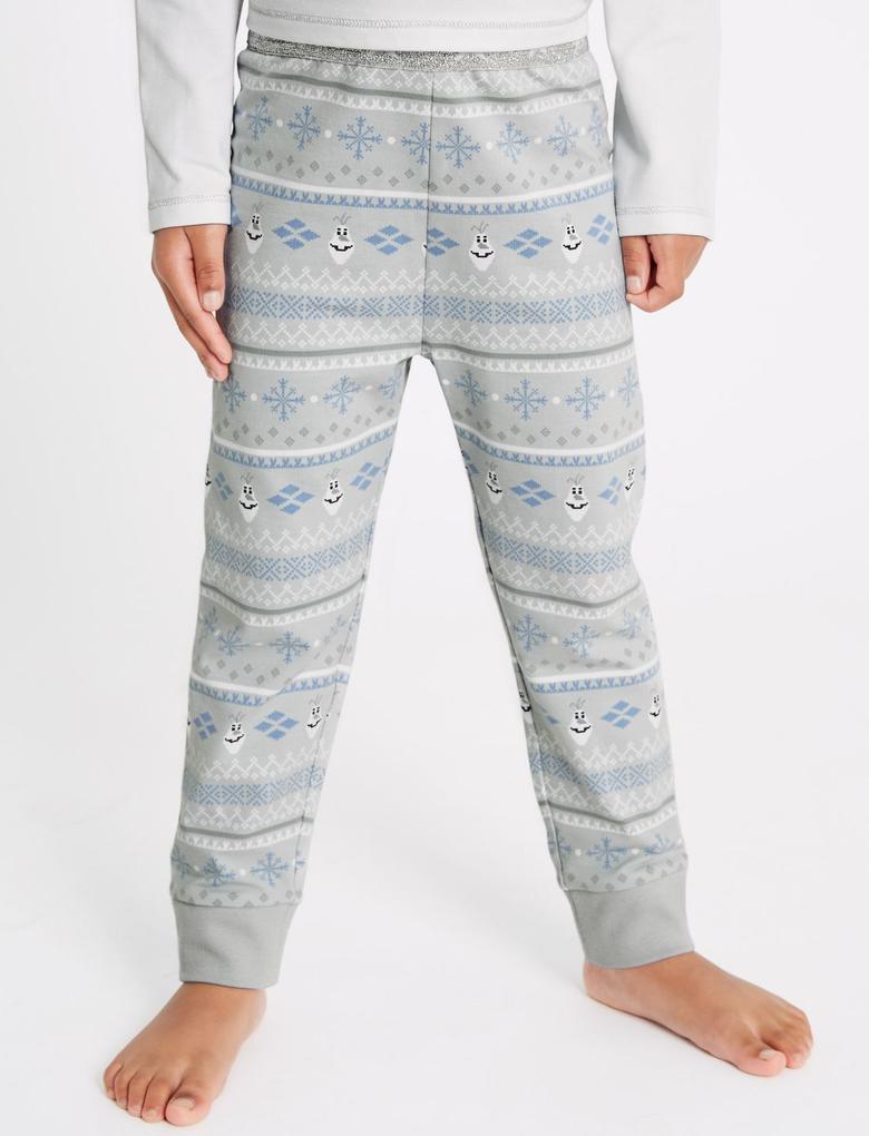 Beyaz Disney Frozen™Pamuklu Pijama Takımı