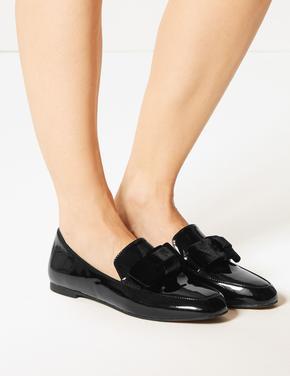 Kare Burunlu Loafer Ayakkabı
