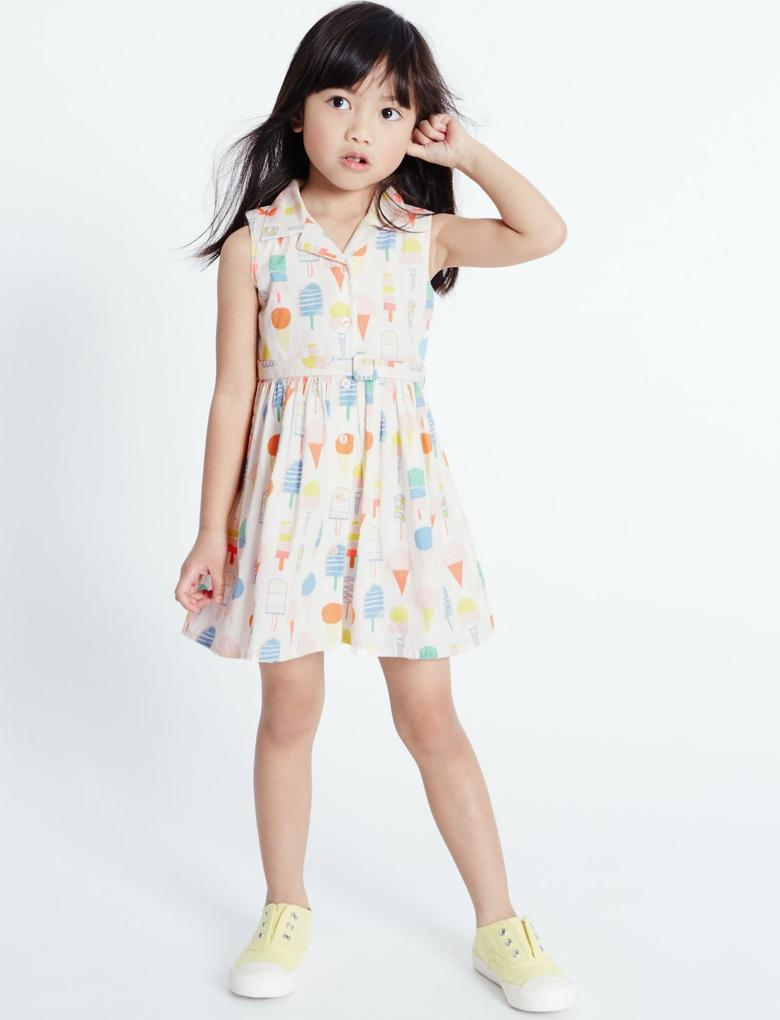 Dondurma Desenli Elbise