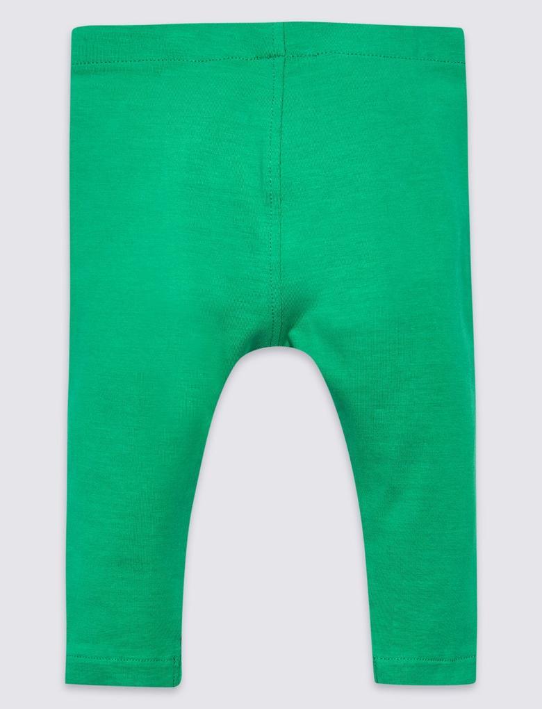 Yeşil Desenli Tayt