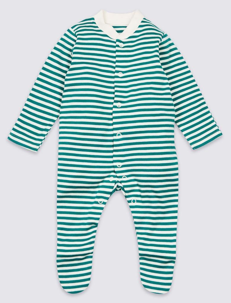 3'lü Saf Pamuklu Dinozor Desenli Tulum Pijama