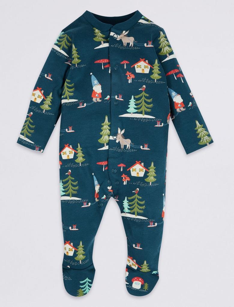2'li Saf Pamuklu Tulum Pijama