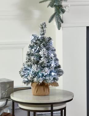 1.5Ft Işıklı Karlı Çam Ağacı