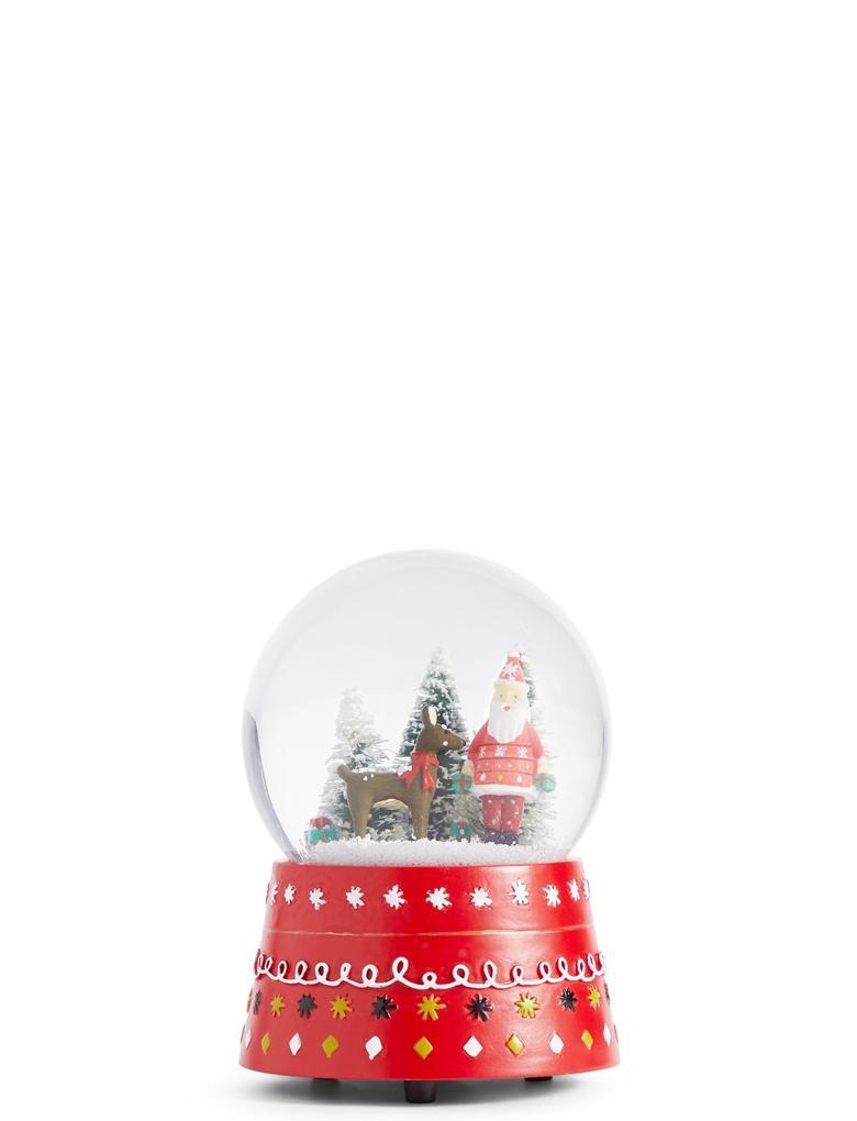 Noel Babalı Kar Küresi