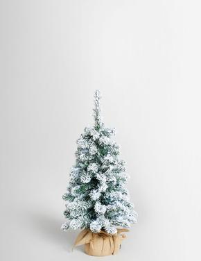 3Ft Işıklı Karlı Ağaç