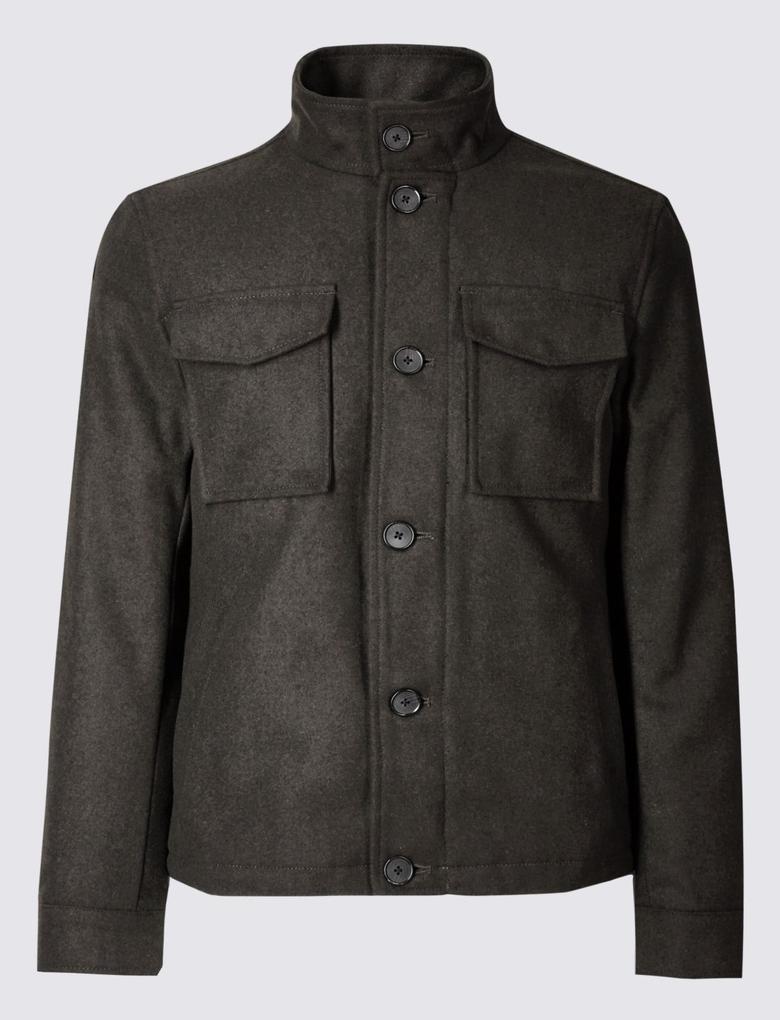 Yeşil Çift Cepli Ceket