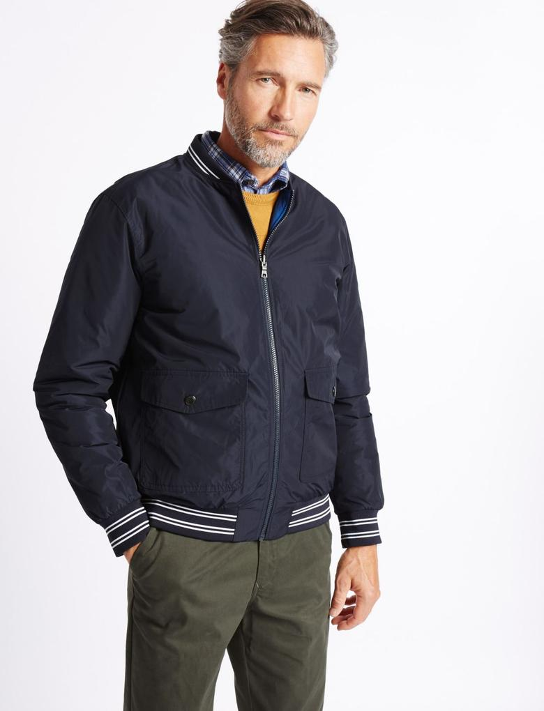 Lacivert Çift Taraflı Ceket (Stormwear™ Teknolojisi ile)